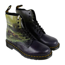 Dr. Martens Pascal Mens Black Green Leather Casual Dress Boots Shoes