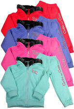Little Girls Baby Infants Full Fleece Tracksuit Hoody Diamante Glitter Joggers