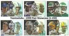 1999 Flair Showcase (1-192) Football Set ** Pick Your Team **