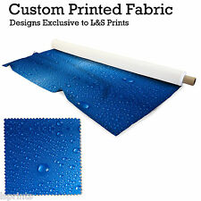 WATERDROPS BLUE DESIGN PRINTED FABRIC LYCRA JERSEY SPANDEX FROM PER METRE