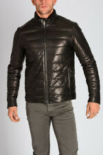TODS New Man Brown Padded Nappa Leather Jacket Coat Made in Italy