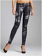 NEW WOMENS GUESS MID RISEZIP SKINNY ROCOCO WASH FLORAL DENIM LEGGING JEANS 12 32