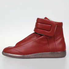 MAISON MARTIN MARGIELA MM22 New Man Red Leather High Sneakers Shoes Made Italy