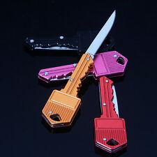 Mini Pocket Key Folding Knife Blade Outdoor Survival Hunting Tool Cute Gift WH