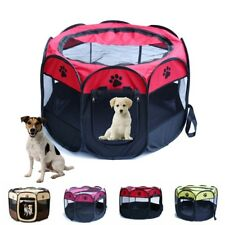 Pet Dog Cat Playpen Tent Bed Portable Exercise Fence Kennel Cage Crate Bag S/M