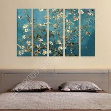 READY TO HANG CANVAS Almond Blossom Vincent Van Gogh 5 Panels Framed Wall Decor