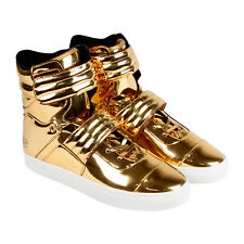 Radii Cylinder Mens Yellow Leather High Top Strap Sneakers Shoes