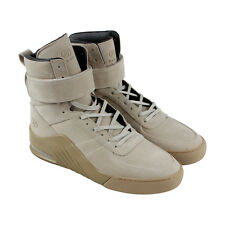 Radii Apex Mens Beige Suede High Top Lace Up Sneakers Shoes