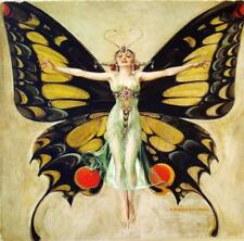 Leyendecker Painting Print on Canvas Ready to Hang Nouveau Deco Butterfly