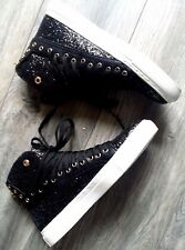 WOMENS LADIES HI TOP SNEAKERS TRAINERS PLIMSOLLS ANKLE BOOTS SHOES SIZE UK 3