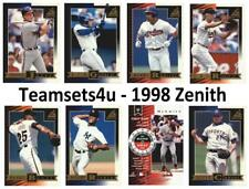 1998 Zenith Baseball Set ** Pick Your Team **