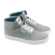 Supra Yorek High Mens Gray Suede & Canvas High Top Lace Up Sneakers Shoes