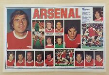 SHOOT football magazine team / squad A3 picture Arsenal - VARIOUS