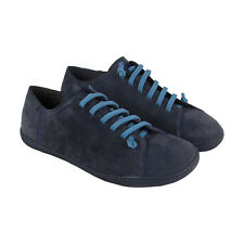 Camper Peu Cami Mens Blue Nubuck Lace Up Lace Up Sneakers Shoes