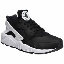 Nike Air Huarache Black White Mens Leather Lace-Up Running Sneakers Trainers