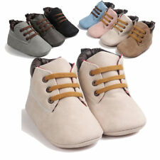 Kids Hight Cut Toddler Leather Shoes  Soft Sole Infant Boy Girl Toddler Shoes