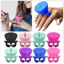 New Silicone Nail Art Polish Holder Flexible Durable Wearable Finger Bottle Stan