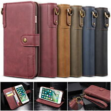 New Genuine Leather Flip Card Pocket Wallet Stand Case Cover for Various Phones