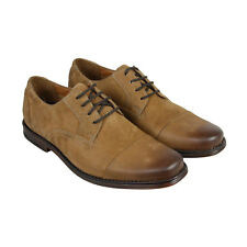 Bostonian Holmby Cap Mens Tan Suede Casual Dress Lace Up Oxfords Shoes