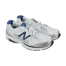 New Balance Marche Mens White Synthetic & Mesh Athletic Lace Up Running Shoes