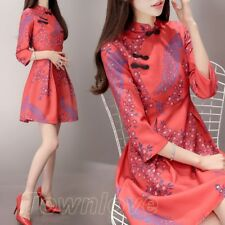 Elegant Hot Womens Formal Evening Party Ball Gown Chinese Cheongsam Bridal Dress