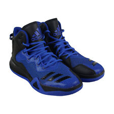 Adidas Dt Bball Mid Mens Blue Mesh Athletic Lace Up Basketball Shoes