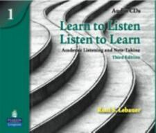 Learn to Listen, Listen to Learn 1: Academic Listening and Note-Taking, Classroo