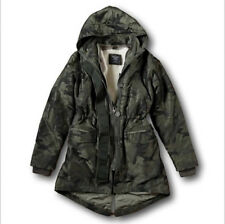 NWT Abercrombie&Fitch Hollister Sherpa Fur 3-In-1 Olive Camo Parka Jacket Coat