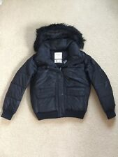 NWT Abercrombie & Fitch Womens Puffer Jacket Coat Outerwear Black Small & Medium