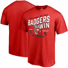 Red Wisconsin Badgers vs. Michigan State Spartans 2016 Score T-Shirt