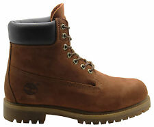 Timberland 6 Inch Premium Mens Boots Rust Brown Leather Lace Up Casual 6768R T1