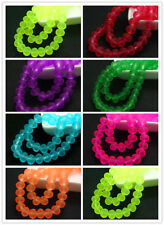 Fashion 40pcs Colors Rondelle Faceted Crystal Glass Loose Spacer Beads 8mm