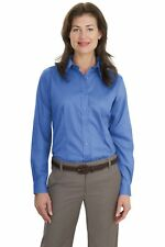 L638 Port Authority Ladies' Oxford Shirt Long Sleeve Non-Iron Twill Shirt NEW