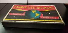 1941 Farmers Electric Maps Game By J.M. Farmer W/10 Maps VG Cond Displays Nicely
