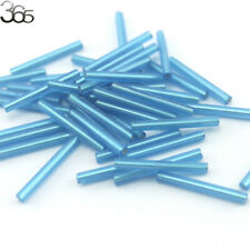 90 Pcs 3.5x30mm Jewelry Making DIY Loose Czech Glass Tube Spacer Seed Beads