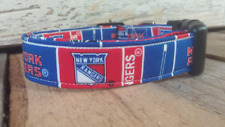 New York Rangers Dog Collar, buckle, Martingale w/ leash set option NY Rangers