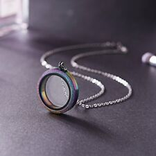 DIY Living Memory Crystal Round Glass Floating Locket Pendant Necklace Gift Hot