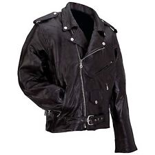Man's Motorcycle Jacket  Genuine Buffalo Leather by Diamond Plate™ Rock Design