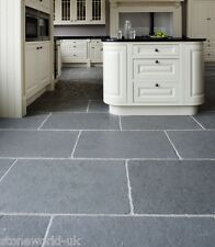 Tumbled Cathedral Ash Grey Limestone Floor Tiles - Natural Stone Flagstone Slabs