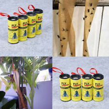 Sticky Fly Insect Catchers Trap Tape Strip Rolls Kills Pest Bug Wasp Flies Ants