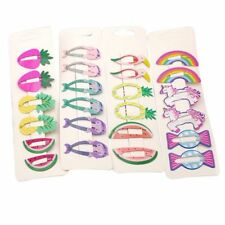 6x Girls baby Hair Clips Snaps Hairpin Fruit Birds Hair Bow Accessories Gift