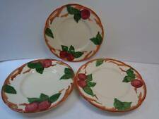 3 Vtg Franciscan Apple Bread Dessert Plates 6.25 in Dia Hand Decorated USA