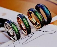 Mood Rings Temperature Changing Colors Emotion Of Feeling 5 Size Stainless Steel