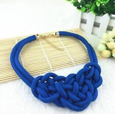 Cotton Choker Statement Necklace Collares Necklaces & Pendants Women Gift Kolye