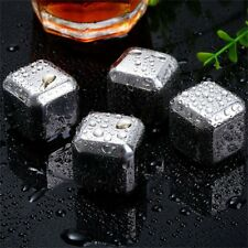 Reusable Non-Toxic Safe Stainless Steel Wine Ice Cooling Cubes No Melt DF