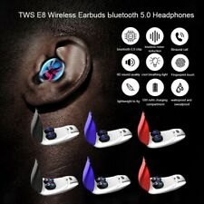 TWS Bluetooth 5.0 Earphone Stereo Gym Headset Twins Earbuds QI Wireless Charging