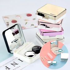 Portable Container Holder Eye Care Tool Kits Mini Travel Contact Lens Case Box