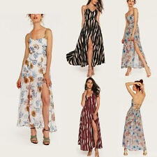 Women's Maxi Summer Evening Long Boho Beach Floral Sundress Cocktail Party Dress