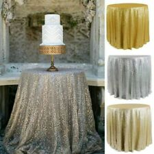 """Sparkly Sequin Tablecloth Cover For Dinner Party Festival wedding 23""""-130"""" Round"""