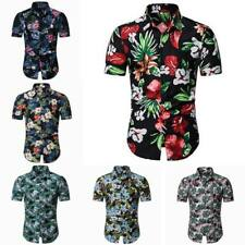 T-shirt dress shirt tops stylish luxury men's slim fit casual floral summer
